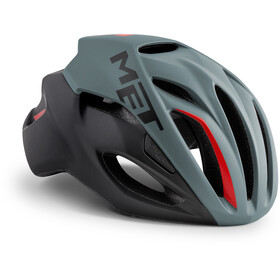 MET Rivale Casco, gray/black/red